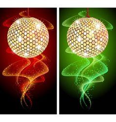 Discoball Background vector image