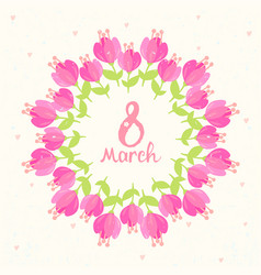 frame bouquets of flowers vector image
