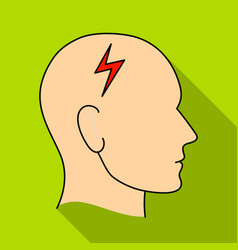the head of the person with diabetesheadache due vector image