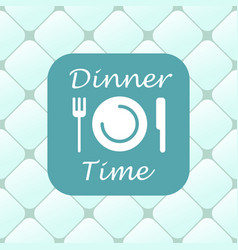 top view of dinner time elements vector image vector image