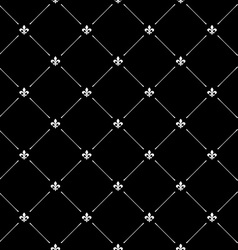 Fleur de lis black dark seamless pattern vector image