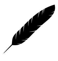 icon of the bird feather vector image vector image