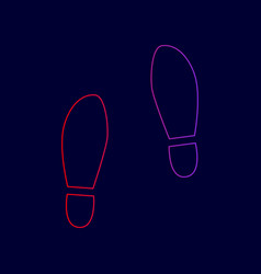 imprint soles shoes sign line icon with vector image