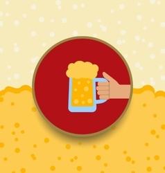 Oktoberfest Background with Mug of Beer vector image