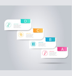 abstract steps infographic element background vector image