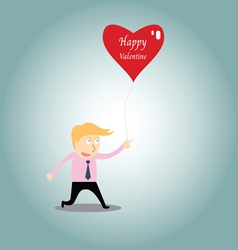 Businessman chasing love vector