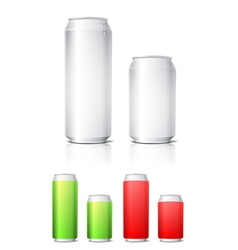 Different colors aluminium cans template vector image vector image