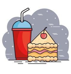 fast food meal design vector image
