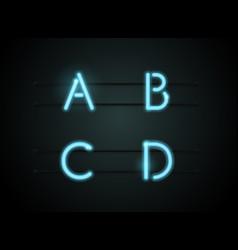 neon font vector image