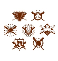 Set of baseball emblems vector image