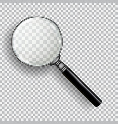 3d realistic magnifying glass transparent loupe vector image