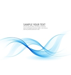 Abstract background blue transparent waved vector image vector image