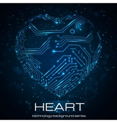 Abstract technology heart vector