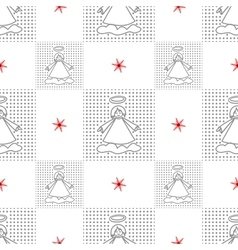 Angels Seamless christmas pattern vector