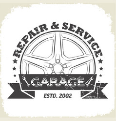 Auto wheel garage vector