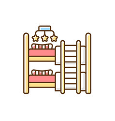 baby and children room furniture rgb color icon vector image
