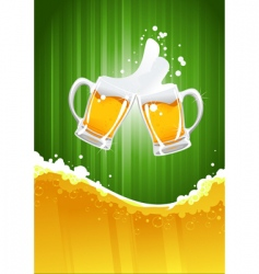 beer splashing vector image