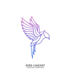 bird line art mono design template vector image