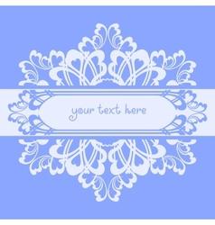 Blue ornate background vector image