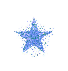 blue star burst starry pattern vector image