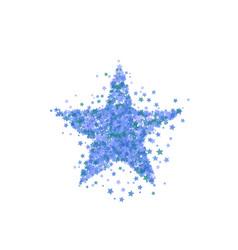 Blue star burst starry pattern vector