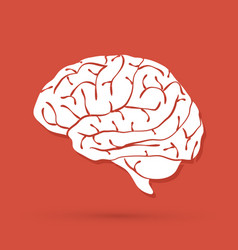 Brain side view graphic vector