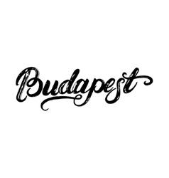 Budapest hand written calligraphy lettering vector