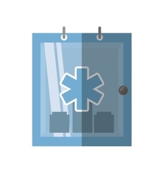 Cabinet first aid kit medical symbol shadow vector