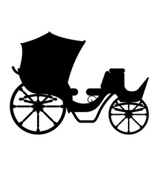carriage for transportation of people black vector image