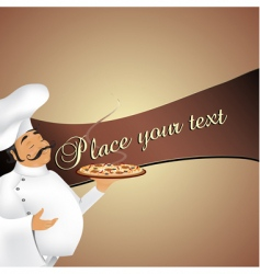 chef background vector image vector image