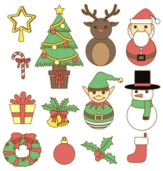 christmas-set-pastel vector image