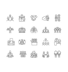 client concept line icons signs set vector image