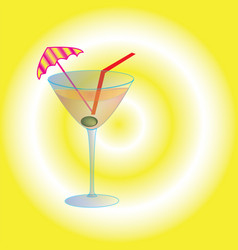 cocktail in a glass fouger vector image