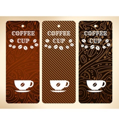 coffee cup banners vector image