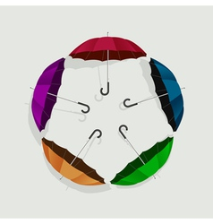 Colored umbrellas vector image
