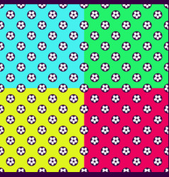 colorful football seamless patterns vector image