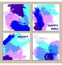 Colorful powder paint Holi festival background vector