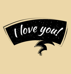 comic speech bubble i love you in pop art style vector image