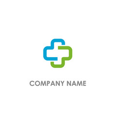 cross medic colored logo vector image