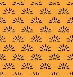 Cute geometric sunset motifs seamless pattern vector