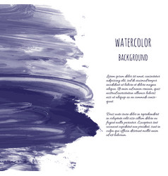 dark navy blue watercolor vector image