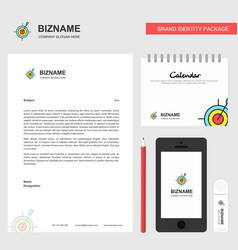 dart game business letterhead calendar 2019 and vector image