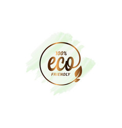 eco watercolor design ecology logo with leaf vector image