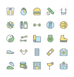Fitness Bold icons 2 vector