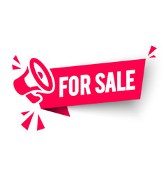 for sale label modern web banner with megaphone vector image