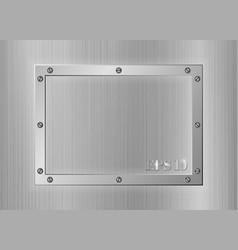 Frame of metal vector