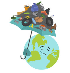 Global environmental problems land pollution vector