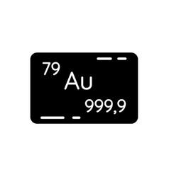 Gold black glyph icon vector