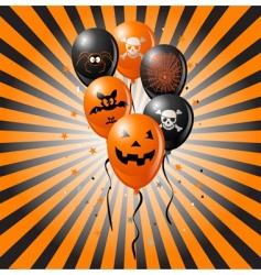 halloween balloons vector image