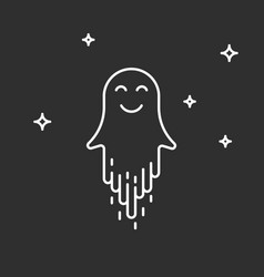 happy cute ghost vector image